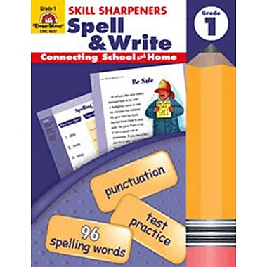 Evan-Moor Skill Sharpeners Spell and Write Grade 1 Book