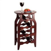 Winsome Cherry 8 Bottle Floor Wine Rack