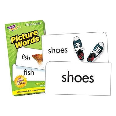 Trend Enterprises Picture Words Flash Cards