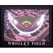 Neonetics Sports Wrigley Field Neon LED Framed Photographic Print