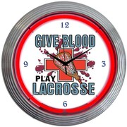 Neonetics Sports 15'' Lacrosse Wall Clock