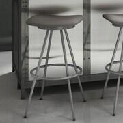 Amisco Beacon 30'' Swivel Bar Stool; Glossy Grey/Cold Grey