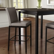 amisco perry bar stool textured dark brownwarm grey - Amisco Bar Stools