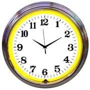 Neonetics Bar and Game Room 15'' Wall Clock; Yellow