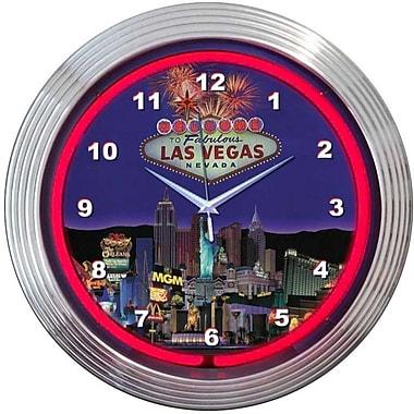 Neonetics Bar and Game Room 15'' Vegas Wall Clock