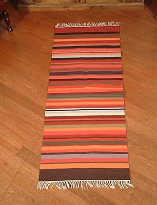 Novica Highland Sunset Striped Area Rug; 2' x 5'1''