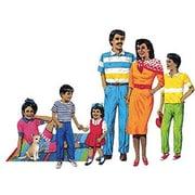 Little Folks Visuals Hispanic Family Bulletin Board Cut Out Set