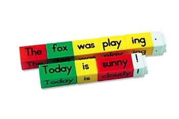 Learning Resources Reading Rods Simple Sentences Kit Letters