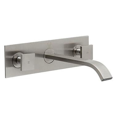 Vigo Titus Wall Mount Bathroom Faucet; Brushed Nickel