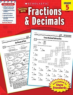 Scholastic Scholastic Success w/ Fractions and Decimals Book WYF078276566233