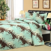 Universal Home Fashions Olympia Microplush 3 Piece Quilt set; Queen / King
