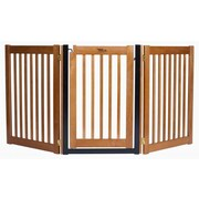 Dynamic Accents Amish Handcrafted 32'' 3 Panel Walk-Through Free Standing Gate; Artisan Bronze