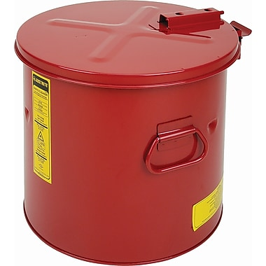 Justrite® Wash Tanks, 3.5-Gallon Steel Wash Tank with Basket, 13 3/4