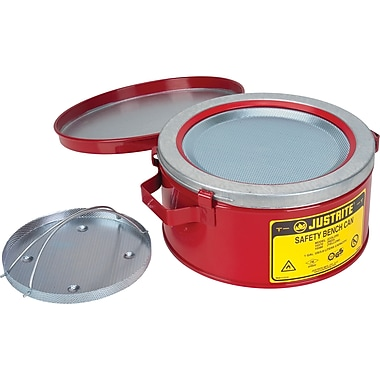 Justrite® Bench Cans, 9 3/8