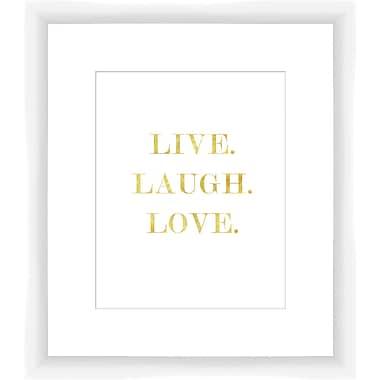 PTM Images Live, Laugh, Love Framed Textual Art