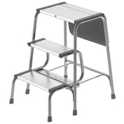 Hailo USA Inc. 3-Step Aluminum Folding Step Stool w/ 330 lb. Load Capacity