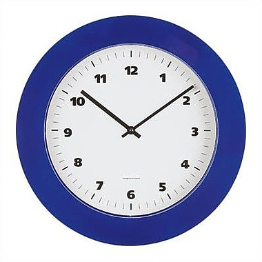 Peter Pepper Round Wall Clock w/ Black or Grey ABS lacquered Bezel; Black