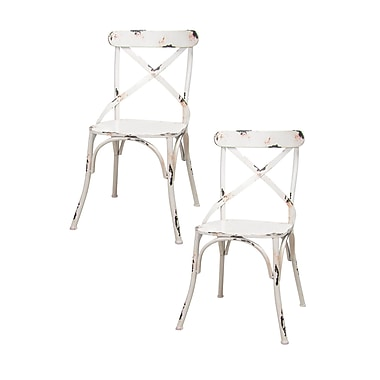 Pangea Home Dylan Side Chair (Set of 2); White