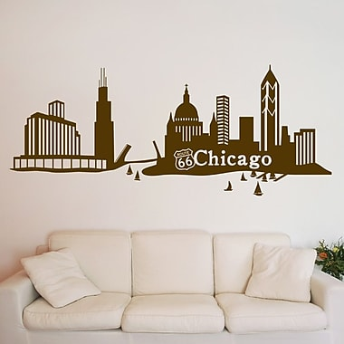 Style and Apply Chicago Skyline Wall Decal; Beige