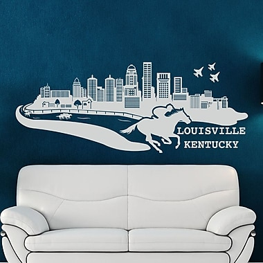 Style and Apply Louisville Kentucky Skyline Wall Decal; Pink
