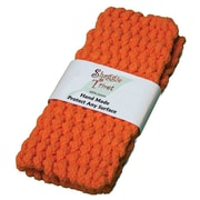 Janey Lynn's Designs Inc Trivets Handknitted; Orange Marmalade