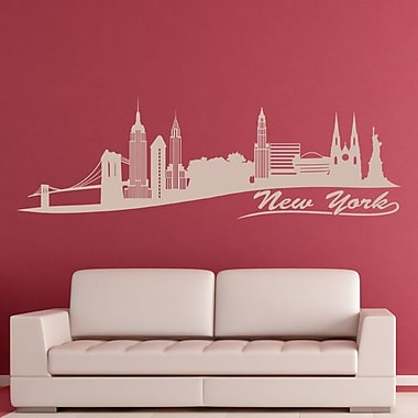 Style and Apply New York Skyline Wall Decal; Light Brown