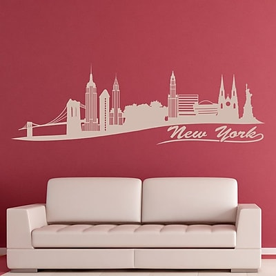 Style and Apply New York Skyline Wall Decal; Dark Gray