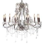 Pangea Home Isabella 10-Light Crystal Chandelier; Rust