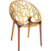 Siesta Exclusive Crystal Barrel Chair; Amber