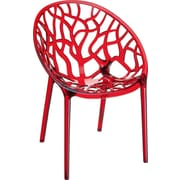 Siesta Exclusive Crystal Barrel Chair; Red