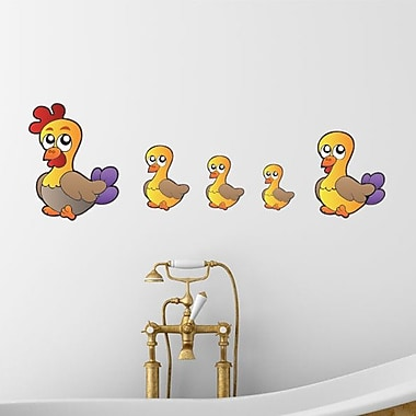 Style and Apply Colorful Duck Family Wall Decal