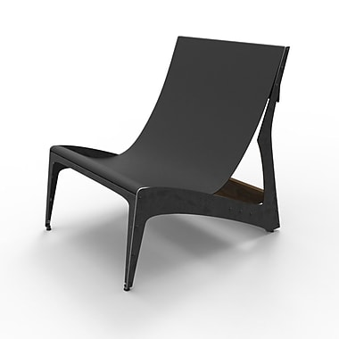 Pekota City Lounger Chair; Raw Steel