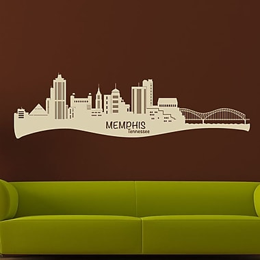 Style and Apply Memphis Skyline Wall Decal; Sage