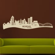 Style and Apply Memphis Skyline Wall Decal; Brown