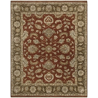 AMER Rugs Sisante Design Khaki Green Hand-Knotted Area Rug; 6' x 9'