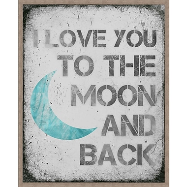 PTM Images To The Moon Framed Textual Art