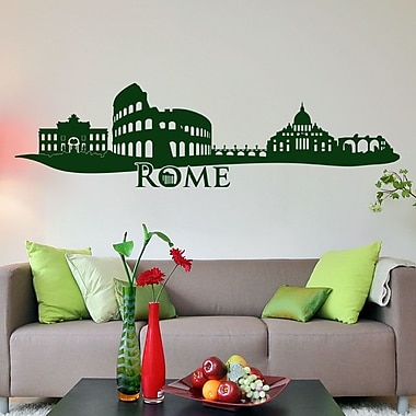 Style and Apply Rome Skyline Wall Decal; Turquoise