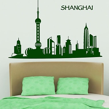 Style and Apply Shanghai Skyline Wall Decal; Lavender