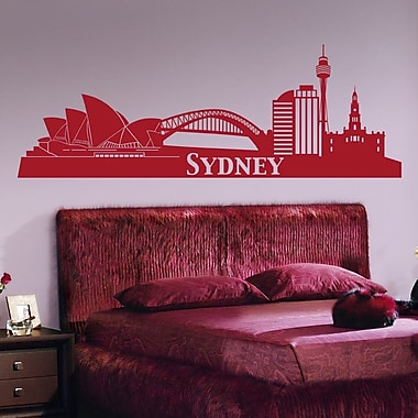 Style and Apply Sydney Skyline Wall Decal; Copper