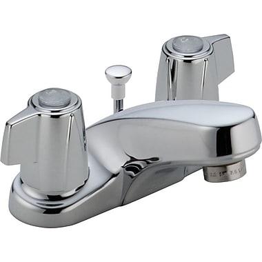 Delta Classic Centerset Bathroom Faucet w/ Metal Blade Handles and Metal Pop-Up Drain