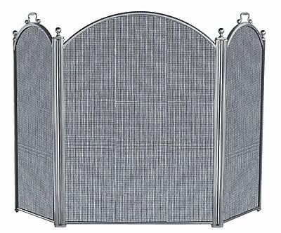 Uniflame 3 Panel Satin Pewter Panel Fireplace Screen