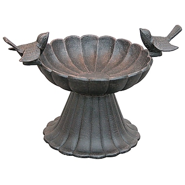Innova Hearth and Home Twin Birds Tabletop Birdbath