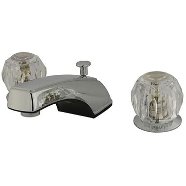 Kingston Brass Americana Double Handle Widespread Bathroom Faucet w/ ABS Pop-Up Drain