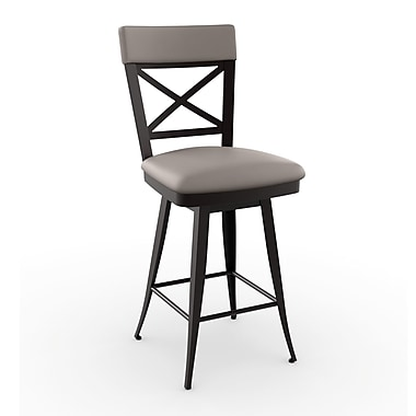 Amisco Library Luxe Style 30.25'' Swivel Bar Stool