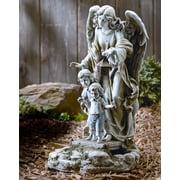 Roman, Inc. Solar Power Guardian Angel Statue
