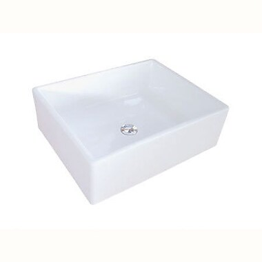 Elements of Design Elements Ceramic Rectangular Vessel Bathroom Sink