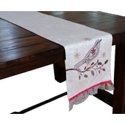 Xia Home Fashions Bird on Twig Emboridery Table Runner