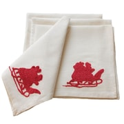 Xia Home Fashions Santa Crewel Embroidery Holiday Napkin (Set of 4)