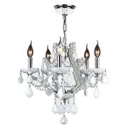 Worldwide Lighting Lyre 5-Light Crystal Chandelier; White