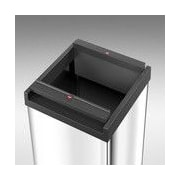 Hailo USA Inc. Big Box 80 Steel 21 Gallon Trash Can; Stainless Steel
